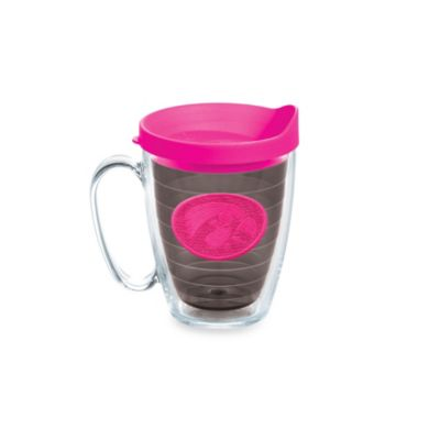 Tervis® University of Iowa 15-Ounce Emblem Mug with Lid in Neon Pink