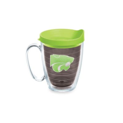 Tervis® Kansas State University 15-Ounce Colored Emblem Mug with Lid in Neon Green