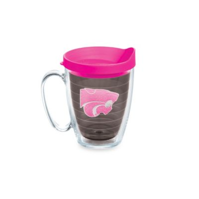 Tervis® Kansas State University 15-Ounce Colored Emblem Mug with Lid in Neon Pink