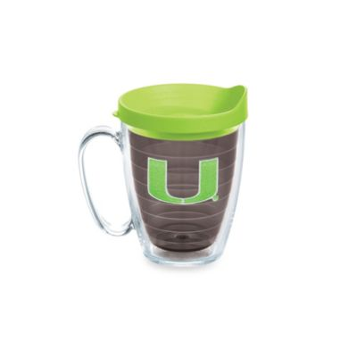 Tervis® University of Miami 15-Ounce Colored Emblem Mug with Lid in Neon Green