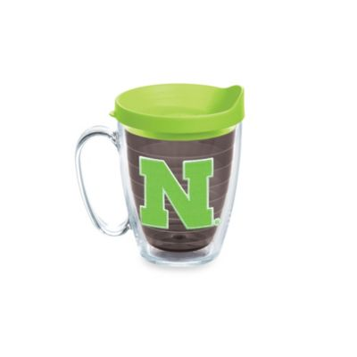 Tervis® University of Nebraska 15-Ounce Emblem Mug with Lid in Neon Green