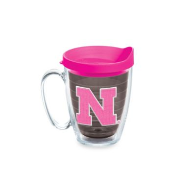 Tervis® University of Nebraska 15-Ounce Mug with Lid in Neon Pink