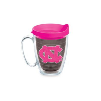 Tervis® University of North Carolina 15-Ounce Colored Emblem Mug with Lid in Neon Pink