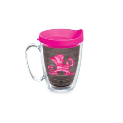 Tervis® University of Notre Dame 15-Ounce Emblem Mug with Lid in Neon Pink