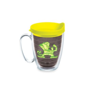 Tervis® University of Notre Dame 15-Ounce Emblem Mug with Lid in Neon Yellow