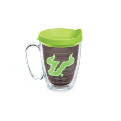 Tervis® University of South Florida 15-Ounce Colored Emblem Mug with Lid in Neon Green