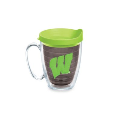 Tervis® University of Wisconsin 15-Ounce Colored Emblem Mug with Lid in Neon Green