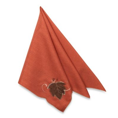 Fairfield 4-Pack of Napkins in Rust