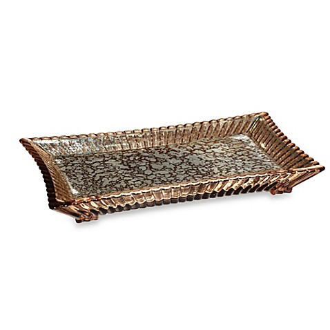 Wamsutta sophia bronze vanity tray bed bath beyond for Bathroom tray