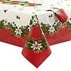 Christmas Garland Tablecloth and 4-Pack of Napkins