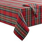 Tartan Plaid Tablecloth and 4-Pack of Napkins
