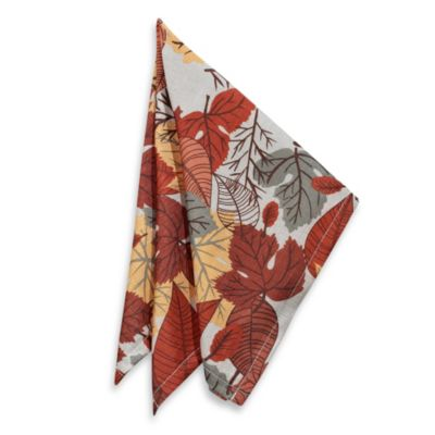 Fall Medley 4-Pack of Napkins