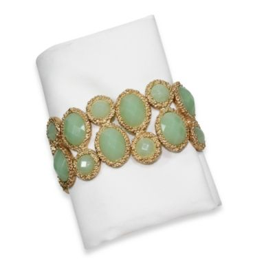 Carmona Gemstone Napkin Rings (Set of 4)