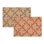 ecoaccents® Coral Lattice Burlap Placemat