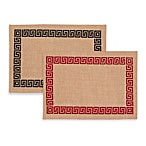 ecoaccents® Greek Key Burlap Placemat