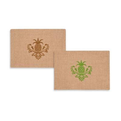 ecoaccents® Pineapple Burlap Placemat