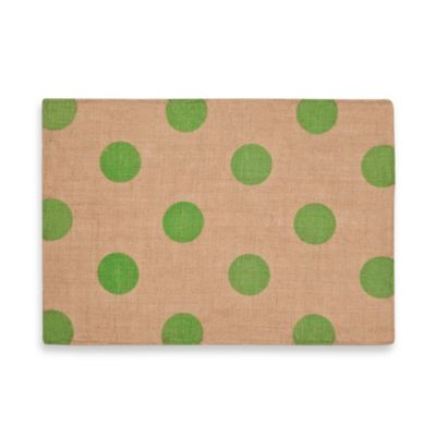 ecoaccents® Dot Burlap Placemat in Green