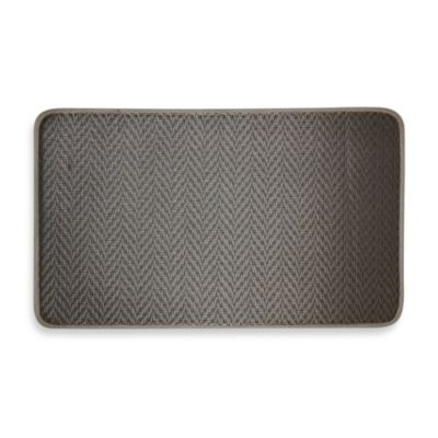 Chevron Chef's Mat in Grey
