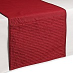 Julia Pleat 72-Inch Table Runner in Red