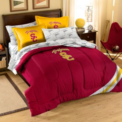 Collegiate University of Southern California Complete Full Bed Ensemble