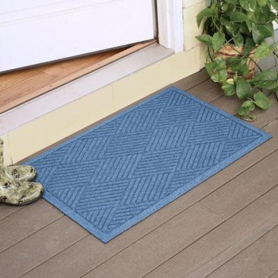 Weather Guard™ Diamonds 23-Inch x 35-Inch Door Mat in Medium Blue