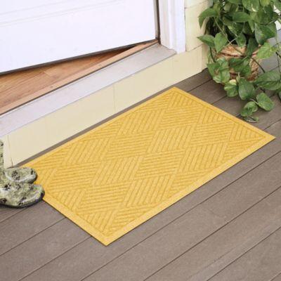 Weather Guard™ Diamonds 23-Inch x 35-Inch Door Mat in Yellow