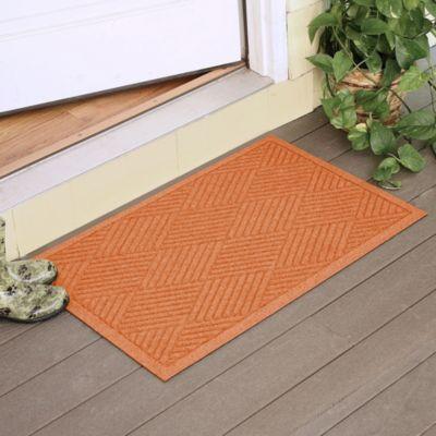 Weather Guard™ Diamonds 23-Inch x 35-Inch Door Mat in Orange