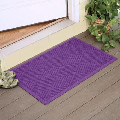 Weather Guard™ Diamonds 23-Inch x 35-Inch Door Mat in Purple