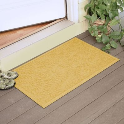 Weather Guard™ Boxwood 23-Inch x 35-Inch Door Mat in Yellow