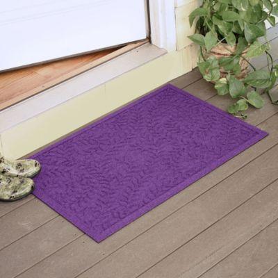 Weather Guard™ Boxwood 23-Inch x 35-Inch Door Mat in Purple