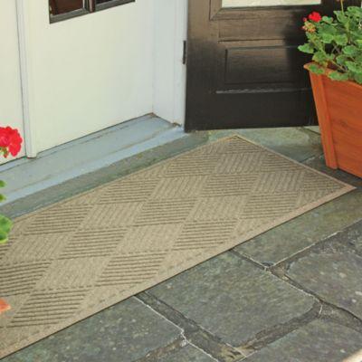 Weather Guard™ Diamonds 22-Inch x 60-Inch Door Mat in Solid Red
