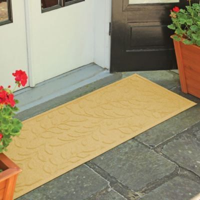 Weather Guard™ Brittney Leaf 22-Inch x 60-Inch Door Mat in Solid Red