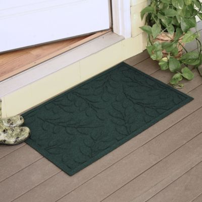 Weather Guard™ Brittney Leaf 2-Foot x 3-Foot Door Mat in Red/Black