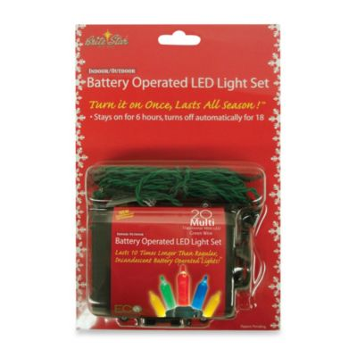 Battery Operated 20 Multicolor Mini LED Light Set with Timer