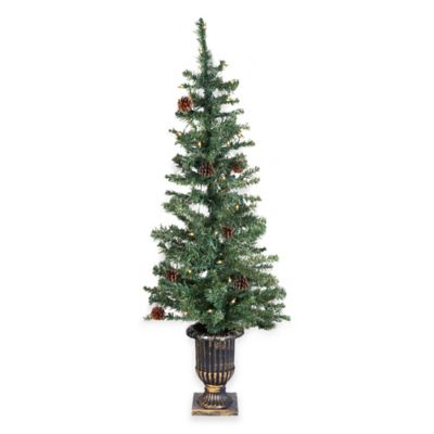4-Foot Pre-lit Decorated Porch Tree