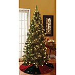 7-Foot Pre-Lit Cashmere Mixed Pine Christmas Tree with Stand