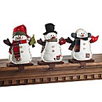 Plush Snowman Stocking Hangers (Set of 3)