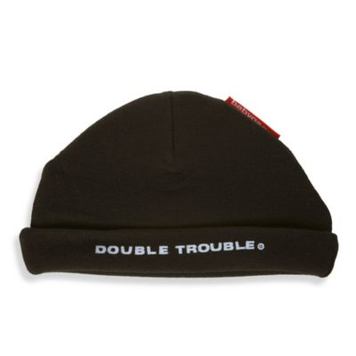 Silly Souls® Double Trouble® Size Newborn to 6 Months Beanie in Black