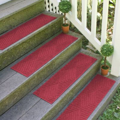 Weather Guard™ Diamonds 22-inch x60-inch Stair Treads in Bluestone (Set of 2)