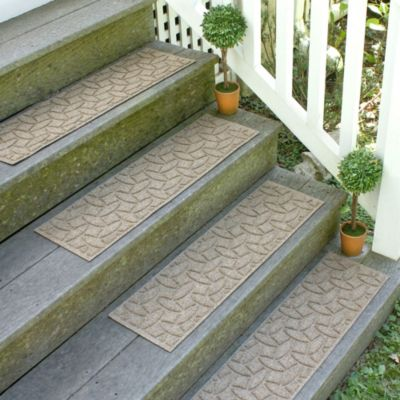 Weather Guard™ Ellipse 8.5-Inch x 30-Inch Stair Treads in Camel (Set of 2)