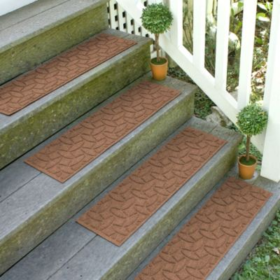 Weather Guard™ Ellipse 8.5-Inch x 30-Inch Stair Treads in Dark Brown (Set of 2)