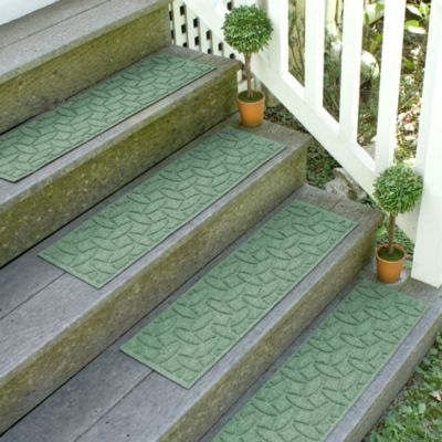 Weather Guard™ Ellipse 8.5-Inch x 30-Inch Stair Treads in Light Green (Set of 2)