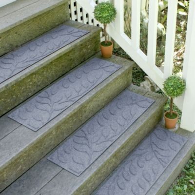 Weather Guard™ Brittney Leaf 8.5-Inch x 30-Inch Stair Treads in Bluestone (Set of 2)