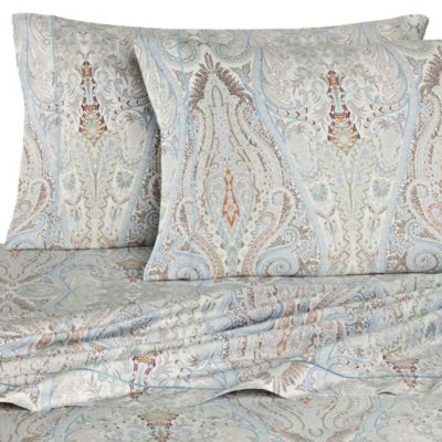 Bellino Fine Linens® Paisley Queen Sheet Set in Sky
