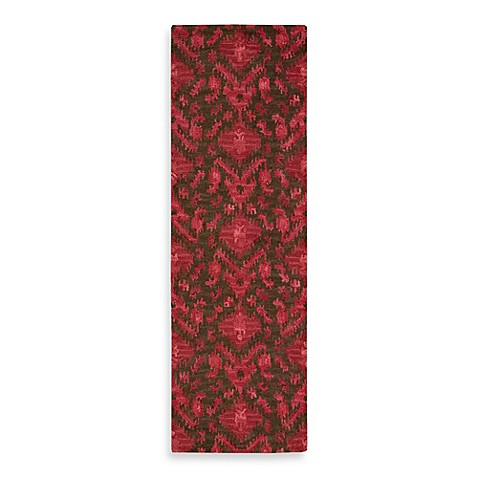 Nourison Siam 2-Foot 3-Inch x 7-Foot 6-Inch Runner in Brown/Red