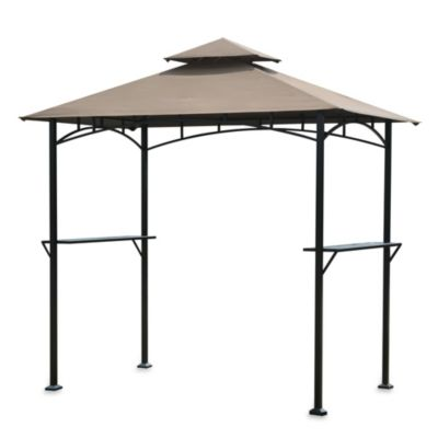 Aragon Grill Gazebo in Chocolate Brown