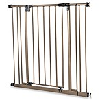 Tall Metal Pet Gate in Bronze