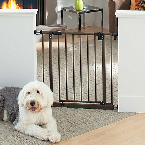 Metal Pet Gate In Bronze Www Bedbathandbeyond Com