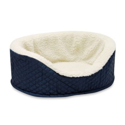 Aspen Plush/Quilted Pet Lounger in Navy