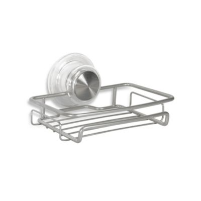 InterDesign® Power Lock™ Ultra Soapdish in Silver